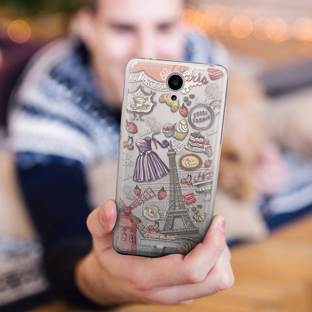 Share - CASEiLIKE Xiaomi Redmi Note 2 back cover Paris Holiday 3907