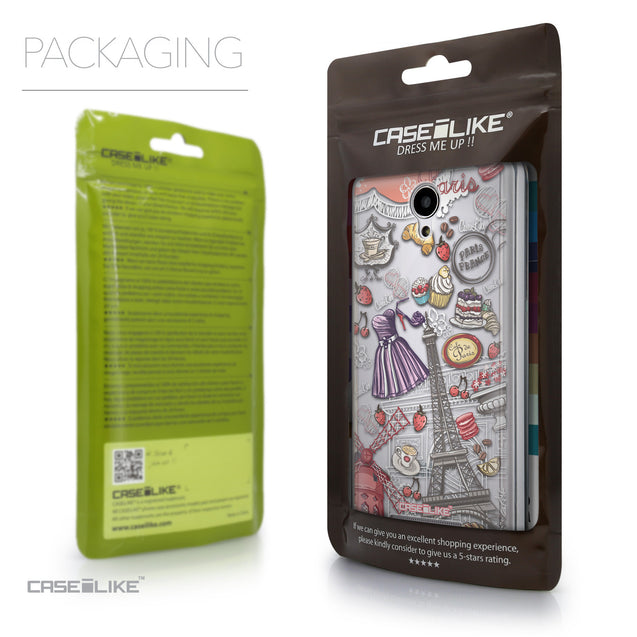 Packaging - CASEiLIKE Xiaomi Redmi Note 2 back cover Paris Holiday 3907