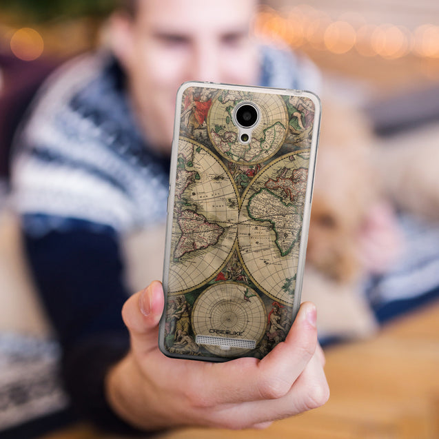 Share - CASEiLIKE Xiaomi Redmi Note 2 back cover World Map Vintage 4607