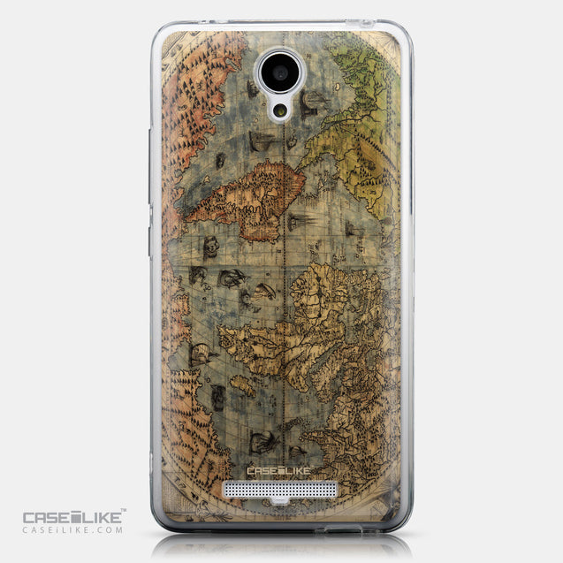 CASEiLIKE Xiaomi Redmi Note 2 back cover World Map Vintage 4608