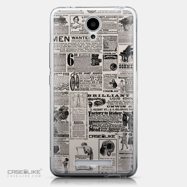 CASEiLIKE Xiaomi Redmi Note 2 back cover Vintage Newspaper Advertising 4818