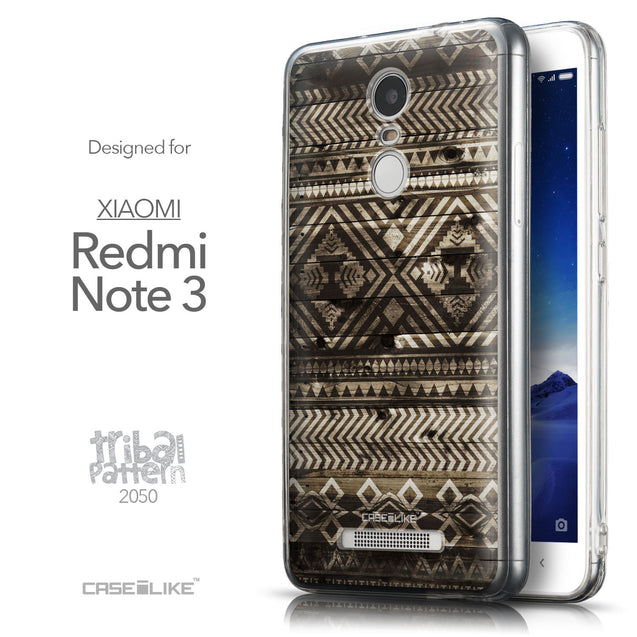 Front & Side View - CASEiLIKE Xiaomi Redmi Note 3 back cover Indian Tribal Theme Pattern 2050