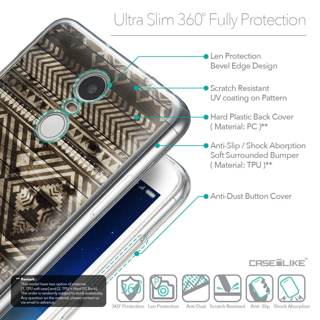 Details in English - CASEiLIKE Xiaomi Redmi Note 3 back cover Indian Tribal Theme Pattern 2050