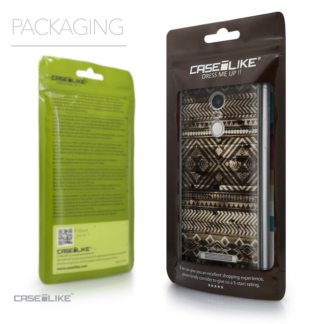 Packaging - CASEiLIKE Xiaomi Redmi Note 3 back cover Indian Tribal Theme Pattern 2050