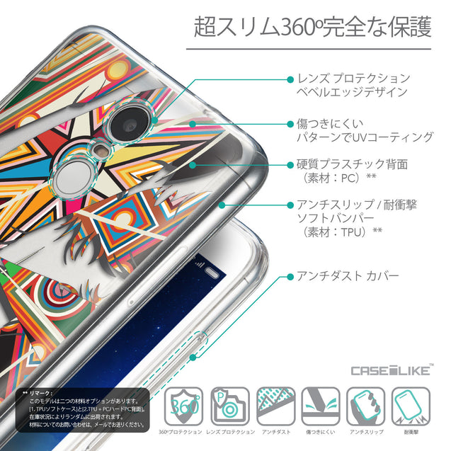 Details in Japanese - CASEiLIKE Xiaomi Redmi Note 3 back cover Indian Tribal Theme Pattern 2054