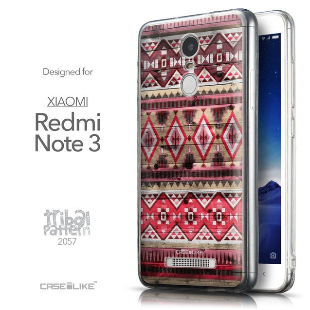 Front & Side View - CASEiLIKE Xiaomi Redmi Note 3 back cover Indian Tribal Theme Pattern 2057