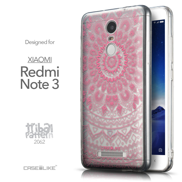 Front & Side View - CASEiLIKE Xiaomi Redmi Note 3 back cover Indian Line Art 2062