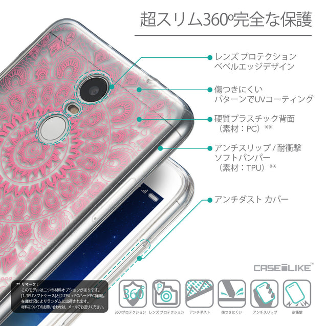 Details in Japanese - CASEiLIKE Xiaomi Redmi Note 3 back cover Indian Line Art 2062