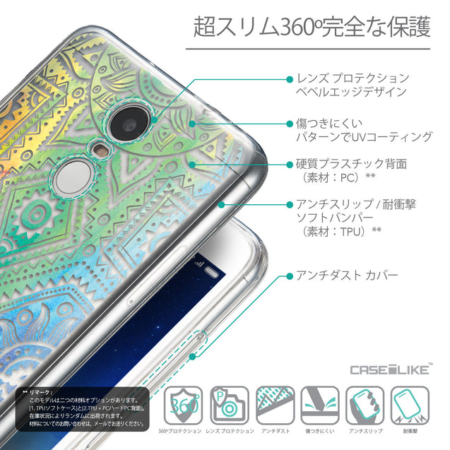 Details in Japanese - CASEiLIKE Xiaomi Redmi Note 3 back cover Indian Line Art 2064