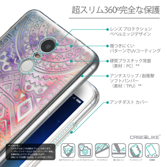 Details in Japanese - CASEiLIKE Xiaomi Redmi Note 3 back cover Indian Line Art 2065