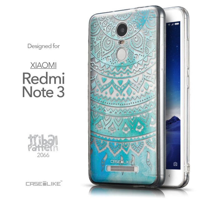 Front & Side View - CASEiLIKE Xiaomi Redmi Note 3 back cover Indian Line Art 2066