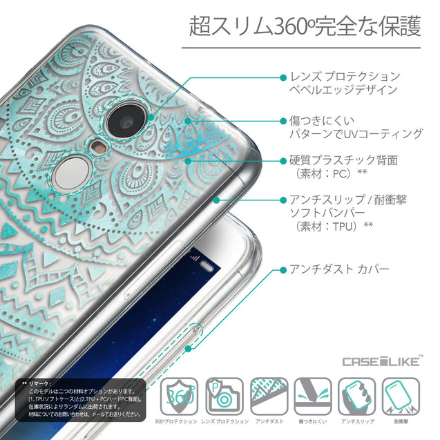 Details in Japanese - CASEiLIKE Xiaomi Redmi Note 3 back cover Indian Line Art 2066