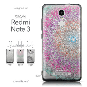 Collection - CASEiLIKE Xiaomi Redmi Note 3 back cover Mandala Art 2090