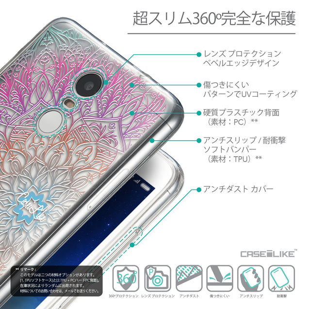 Details in Japanese - CASEiLIKE Xiaomi Redmi Note 3 back cover Mandala Art 2090