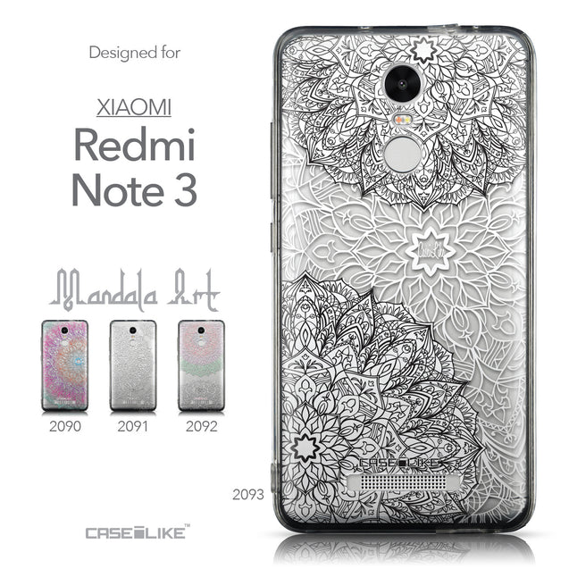 Collection - CASEiLIKE Xiaomi Redmi Note 3 back cover Mandala Art 2093