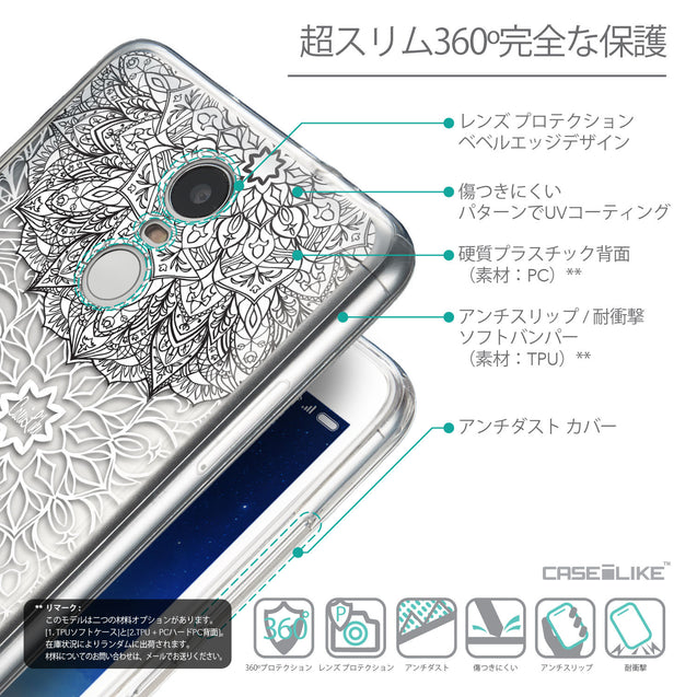 Details in Japanese - CASEiLIKE Xiaomi Redmi Note 3 back cover Mandala Art 2093