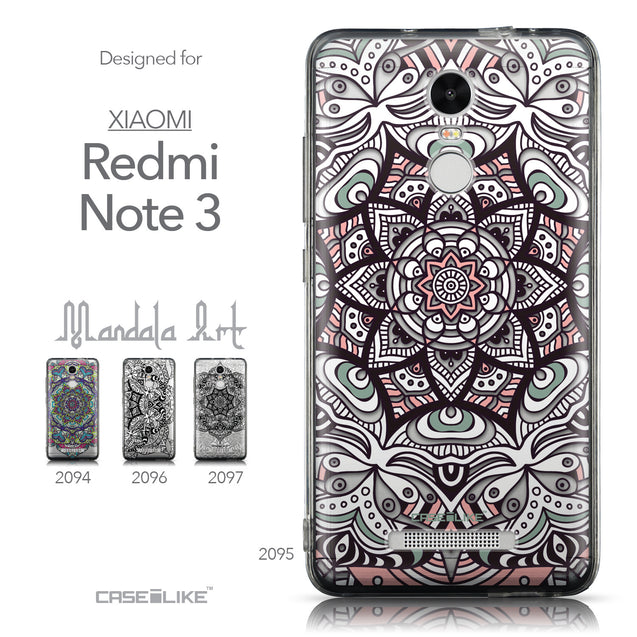 Collection - CASEiLIKE Xiaomi Redmi Note 3 back cover Mandala Art 2095
