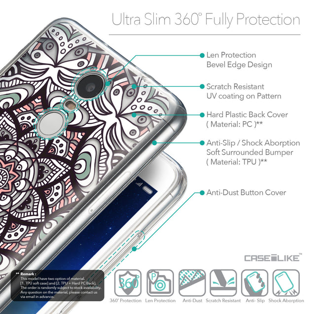 Details in English - CASEiLIKE Xiaomi Redmi Note 3 back cover Mandala Art 2095