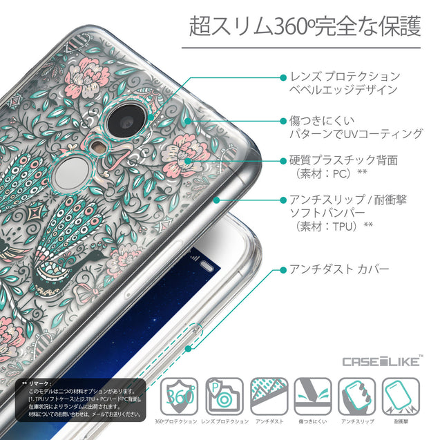 Details in Japanese - CASEiLIKE Xiaomi Redmi Note 3 back cover Roses Ornamental Skulls Peacocks 2226