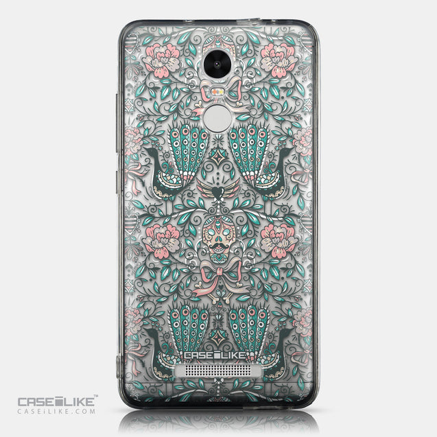 CASEiLIKE Xiaomi Redmi Note 3 back cover Roses Ornamental Skulls Peacocks 2226
