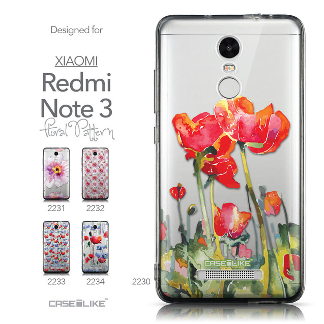 Collection - CASEiLIKE Xiaomi Redmi Note 3 back cover Watercolor Floral 2230