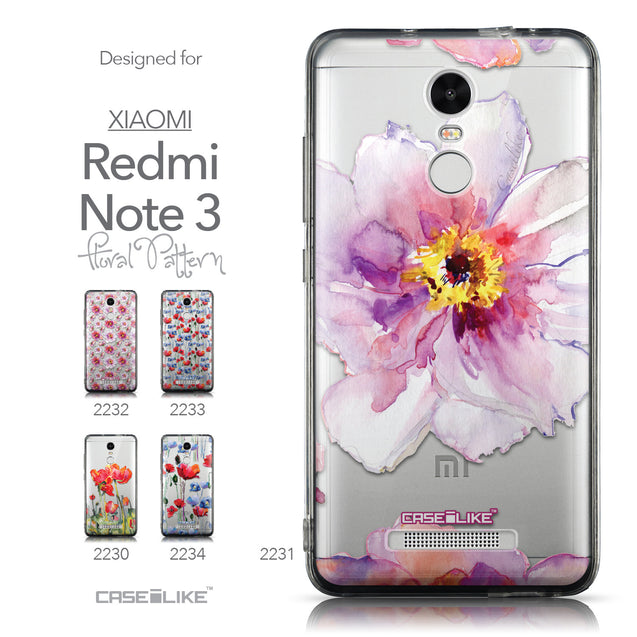 Collection - CASEiLIKE Xiaomi Redmi Note 3 back cover Watercolor Floral 2231