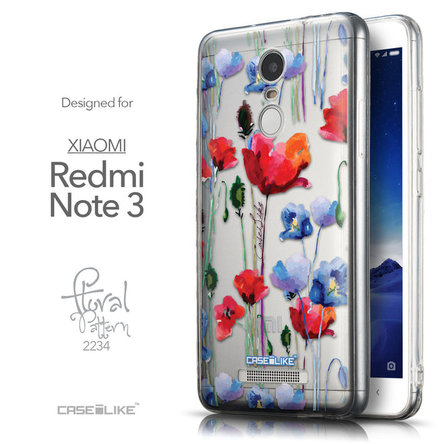 Front & Side View - CASEiLIKE Xiaomi Redmi Note 3 back cover Indian Line Art 2061