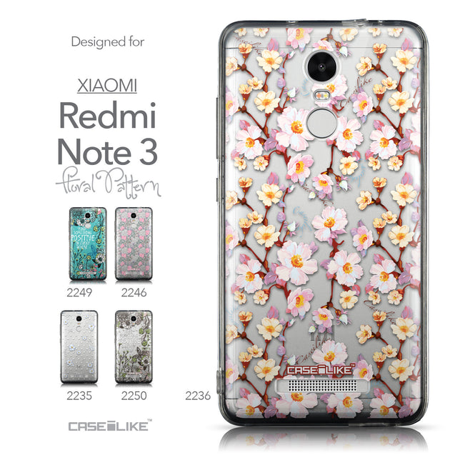 Collection - CASEiLIKE Xiaomi Redmi Note 3 back cover Watercolor Floral 2236