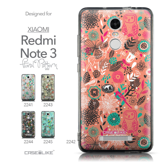 Collection - CASEiLIKE Xiaomi Redmi Note 3 back cover Spring Forest Pink 2242