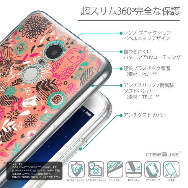 Details in Japanese - CASEiLIKE Xiaomi Redmi Note 3 back cover Spring Forest Pink 2242