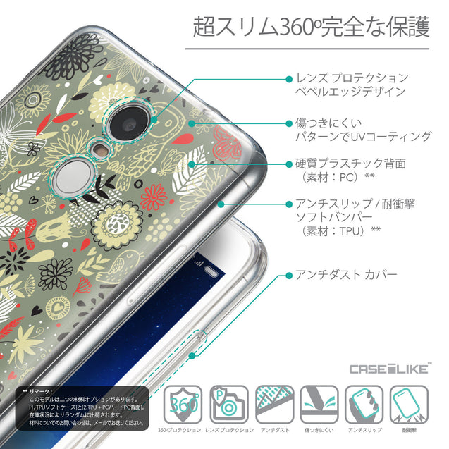 Details in Japanese - CASEiLIKE Xiaomi Redmi Note 3 back cover Spring Forest Gray 2243