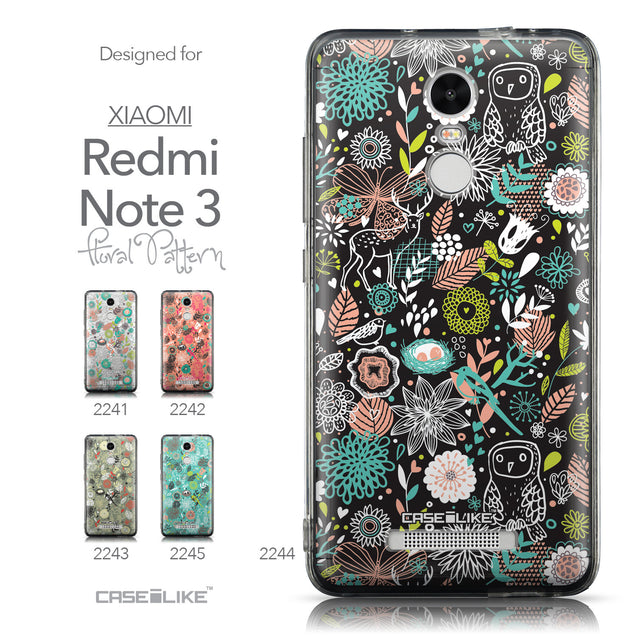 Collection - CASEiLIKE Xiaomi Redmi Note 3 back cover Spring Forest Black 2244