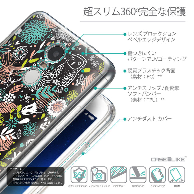 Details in Japanese - CASEiLIKE Xiaomi Redmi Note 3 back cover Spring Forest Black 2244
