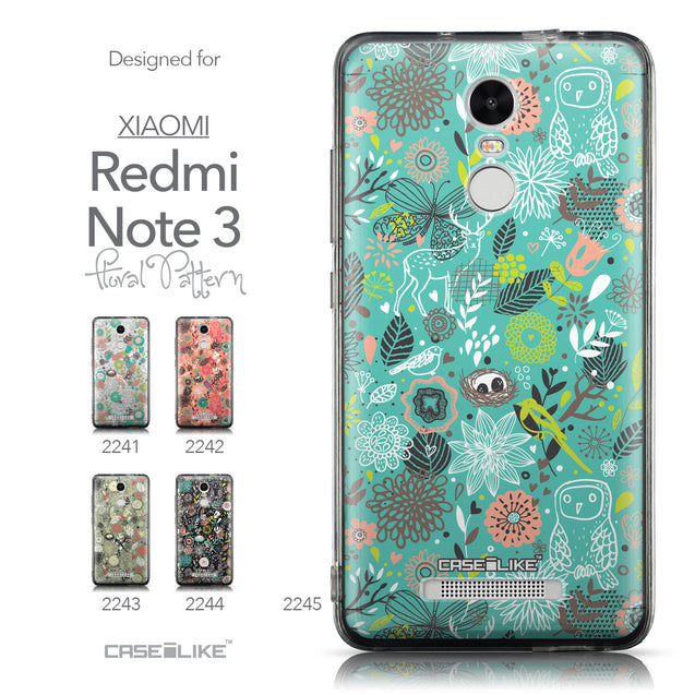Collection - CASEiLIKE Xiaomi Redmi Note 3 back cover Spring Forest Turquoise 2245