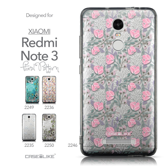 Collection - CASEiLIKE Xiaomi Redmi Note 3 back cover Flowers Herbs 2246