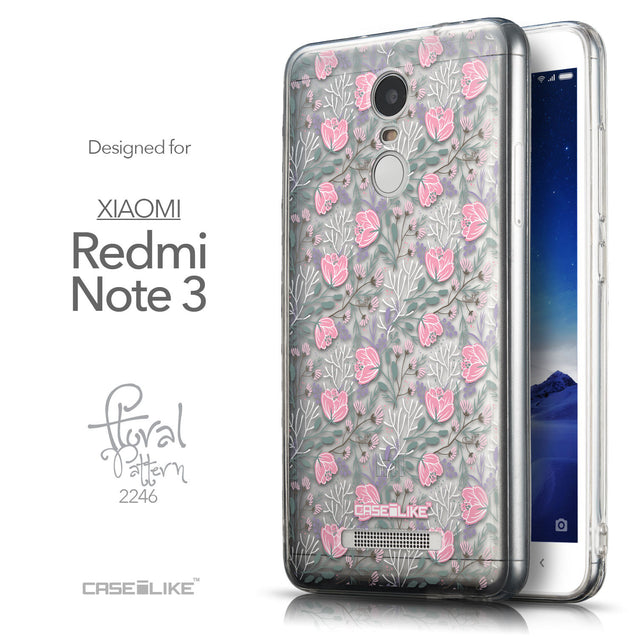 Front & Side View - CASEiLIKE Xiaomi Redmi Note 3 back cover Flowers Herbs 2246