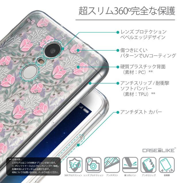 Details in Japanese - CASEiLIKE Xiaomi Redmi Note 3 back cover Flowers Herbs 2246