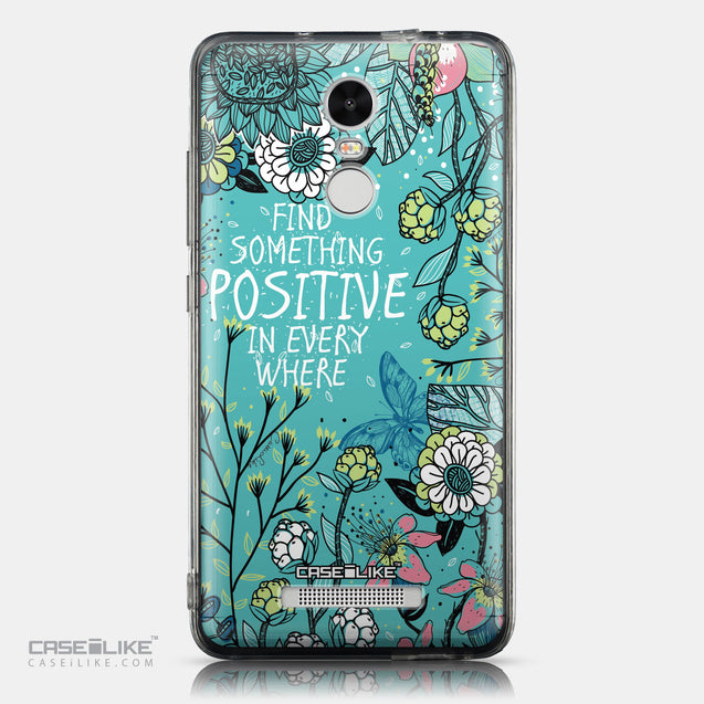 CASEiLIKE Xiaomi Redmi Note 3 back cover Blooming Flowers Turquoise 2249