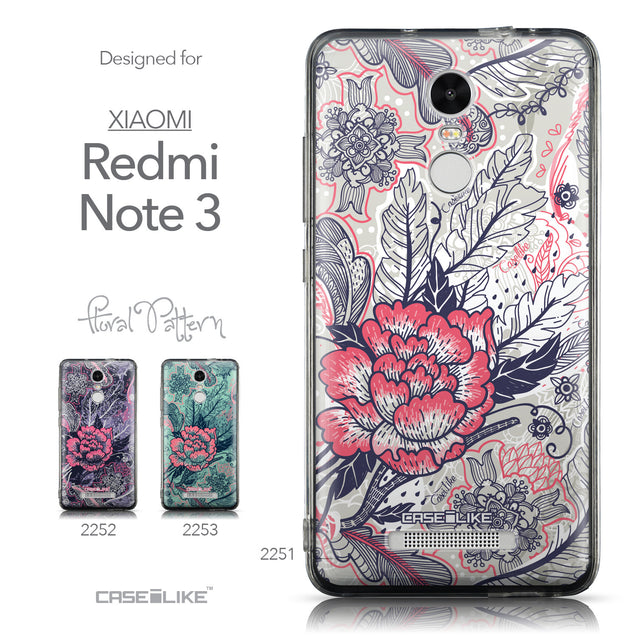 Collection - CASEiLIKE Xiaomi Redmi Note 3 back cover Vintage Roses and Feathers Beige 2251