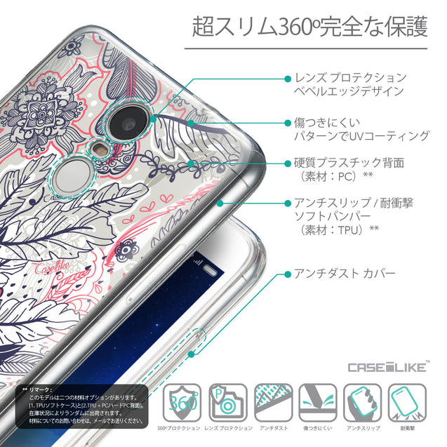 Details in Japanese - CASEiLIKE Xiaomi Redmi Note 3 back cover Vintage Roses and Feathers Beige 2251
