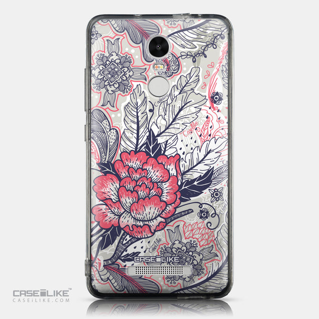 CASEiLIKE Xiaomi Redmi Note 3 back cover Vintage Roses and Feathers Beige 2251
