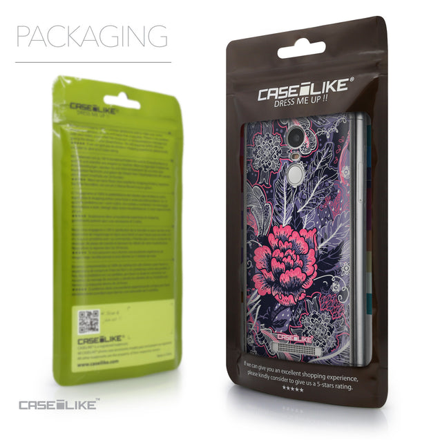 Packaging - CASEiLIKE Xiaomi Redmi Note 3 back cover Vintage Roses and Feathers Blue 2252
