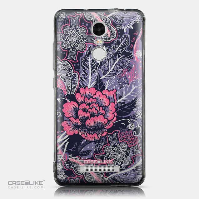 CASEiLIKE Xiaomi Redmi Note 3 back cover Vintage Roses and Feathers Blue 2252