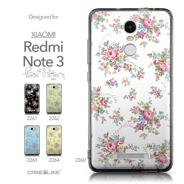 Collection - CASEiLIKE Xiaomi Redmi Note 3 back cover Floral Rose Classic 2260