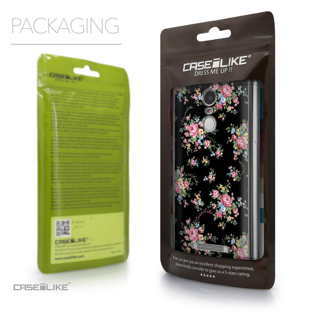 Packaging - CASEiLIKE Xiaomi Redmi Note 3 back cover Floral Rose Classic 2261