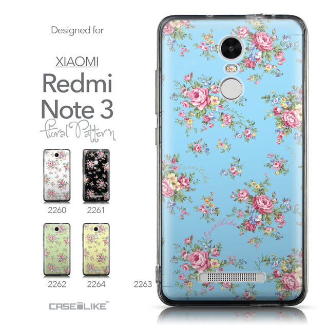 Collection - CASEiLIKE Xiaomi Redmi Note 3 back cover Floral Rose Classic 2263