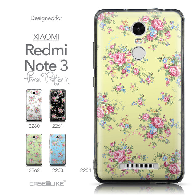 Collection - CASEiLIKE Xiaomi Redmi Note 3 back cover Floral Rose Classic 2264