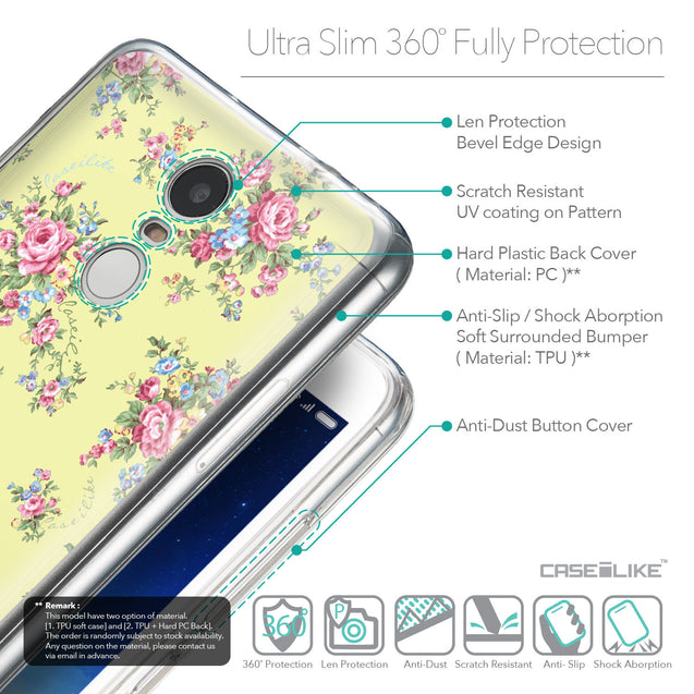 Details in English - CASEiLIKE Xiaomi Redmi Note 3 back cover Floral Rose Classic 2264
