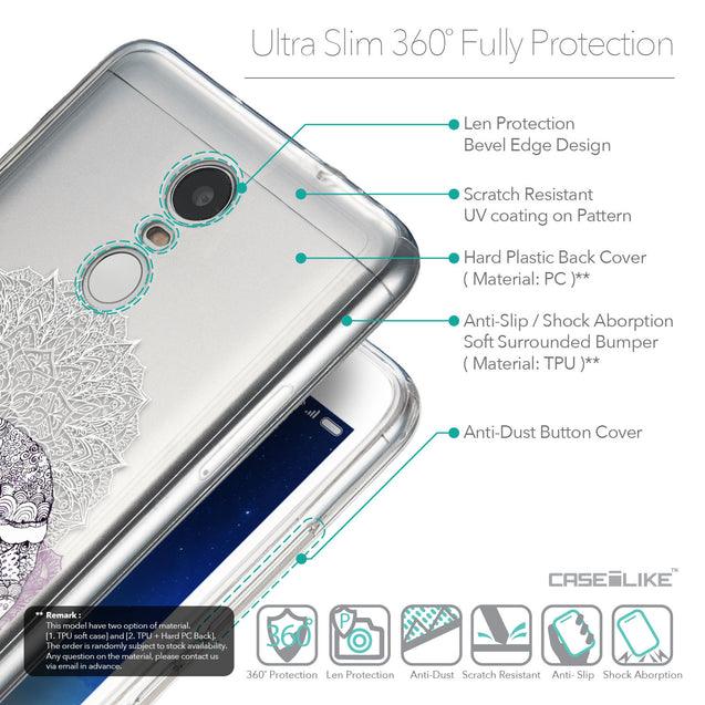 Details in English - CASEiLIKE Xiaomi Redmi Note 3 back cover Mandala Art 2301