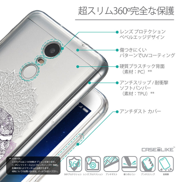 Details in Japanese - CASEiLIKE Xiaomi Redmi Note 3 back cover Mandala Art 2301